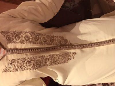 Djellaba marocaine crepe tissu